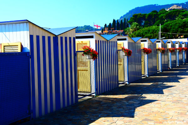 private beach changing rooms