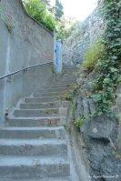 way to castle in Levanto