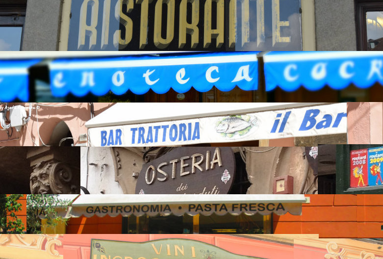 Ristorante?Trattoria?Osteria?What's the difference?