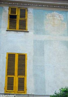 green facade Chiavari