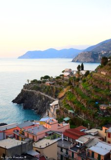 view on Cinque Terre from Manarola