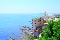 Boccadasse and Ligurian sea