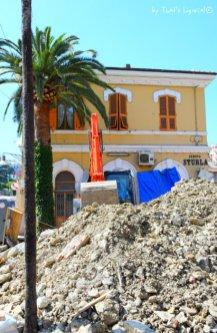 work in progress Genova Sturla station