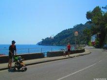 stroller in Liguria
