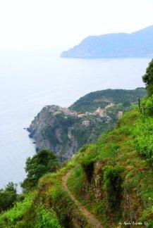 view Corniglia from the trail