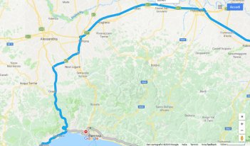 connection between eastern Italy and wester Liguria
