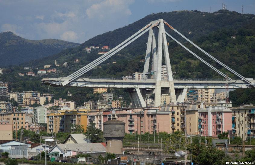 Genua po katastrofie wiaduktu Morandi