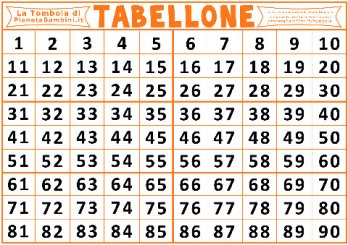 numbers tombola