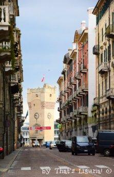 tower and via Paleocapa Savona