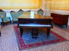 piano of the music room Villa Durazzo