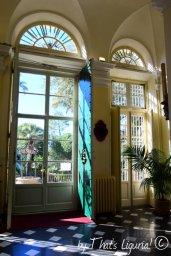 view from monumental entrance Villa Durazzo