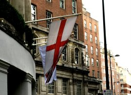 flag of England in London