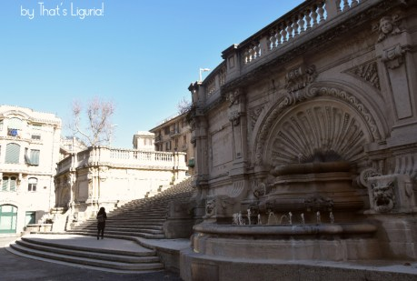 stairs of Scalinata Borghese Genoa