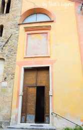 entrance of San Bartolomeo church Zuccarello