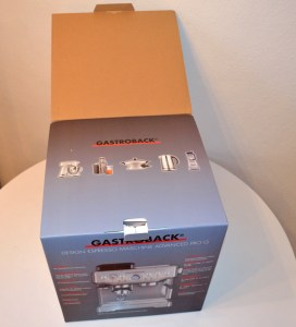 Gastroback Pro G/Breville Barista Express - Box Flap Open