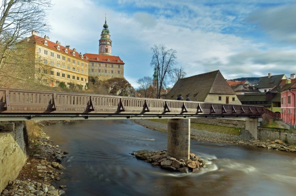 Bridge and Krumlov Castle