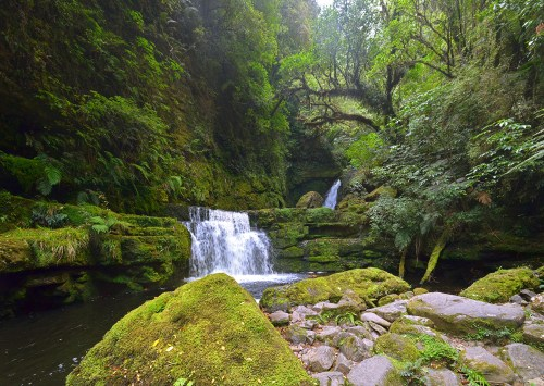 waterfall in southern new zealand