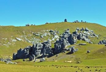 Scattered rock formation
