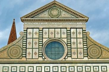 Closeup of Santa Maria Novella Facade