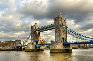London Tower bridge on the river Thames