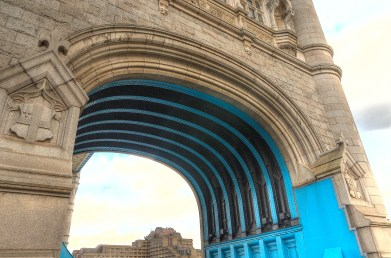 Tower Bridge, arch, London