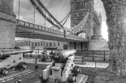 Cannon beside London Tower Bridge