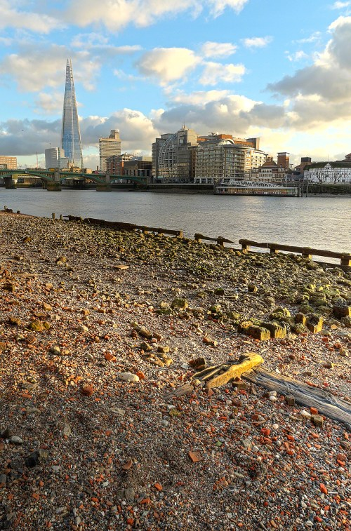 River Thames at low tide