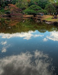Reflection of clouds
