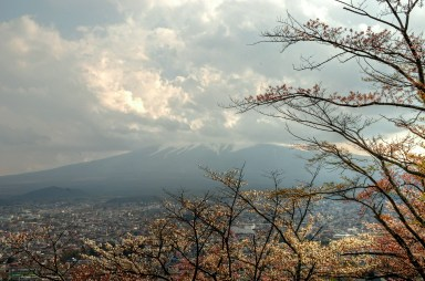 Mout Fuji is hiding today