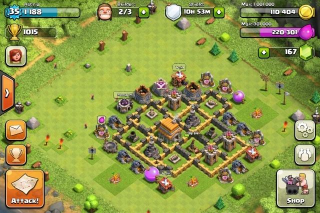 Clash of clans Town Hall 6 Trophy Base - 9
