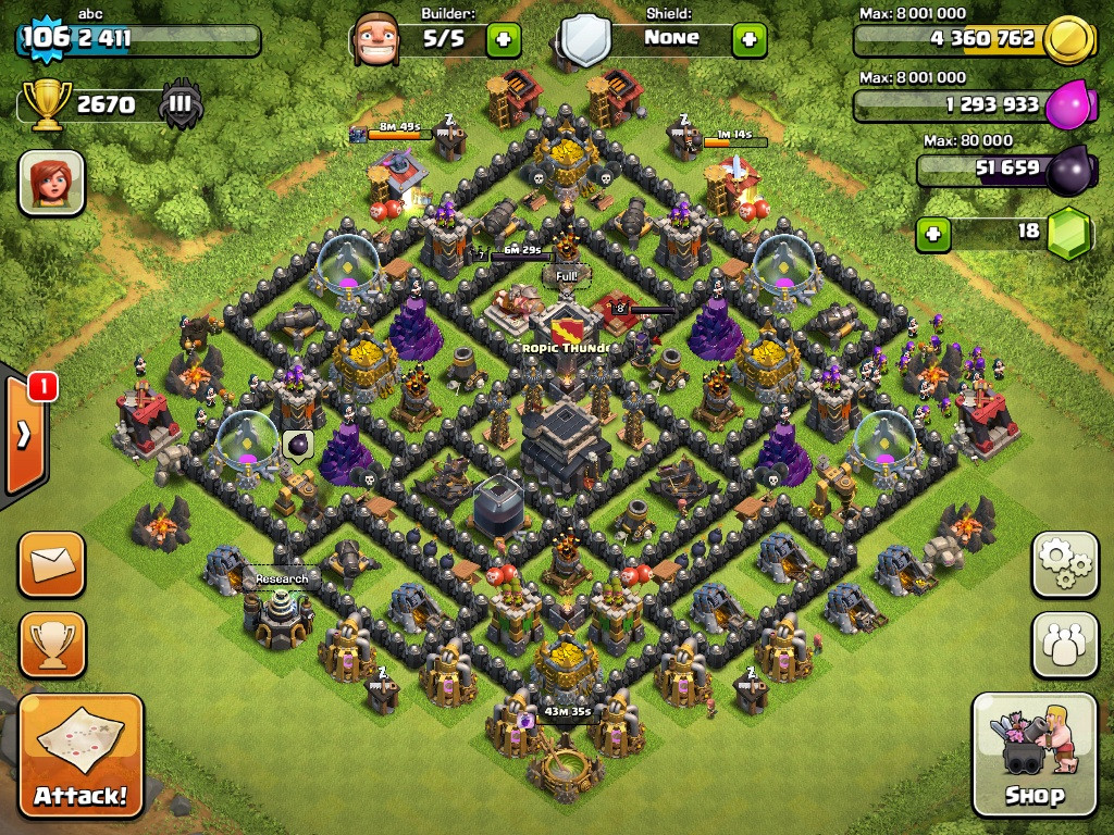 Best Clash Of Clans Town Hall Level 9 Defense Base Design 8