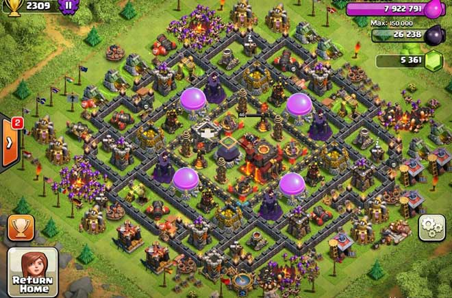 Best Clash Of Clans Town Hall Level 10 Defense Base Design 10