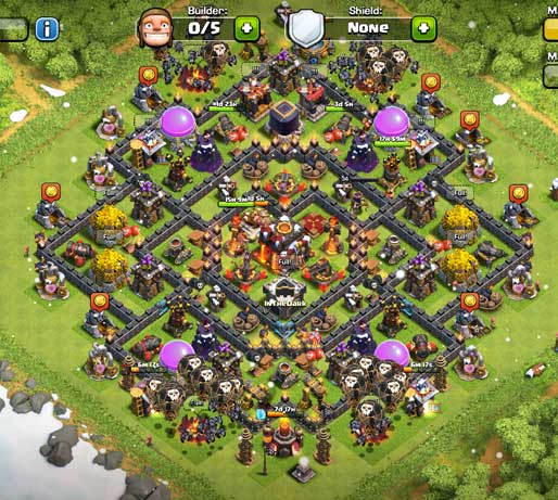 Best Clash Of Clans Town Hall Level 10 Defense Base Design 6