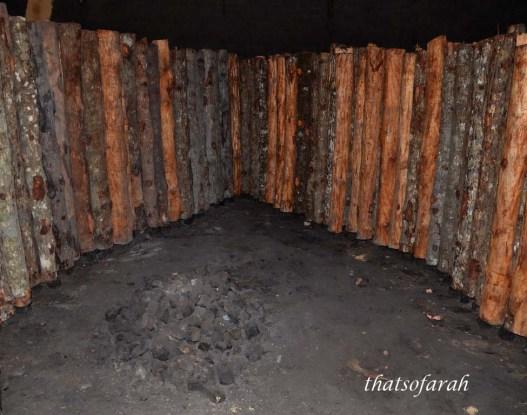Wood inside the kiln