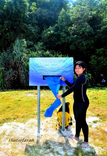 Plastic Dispenser at Tulai Island