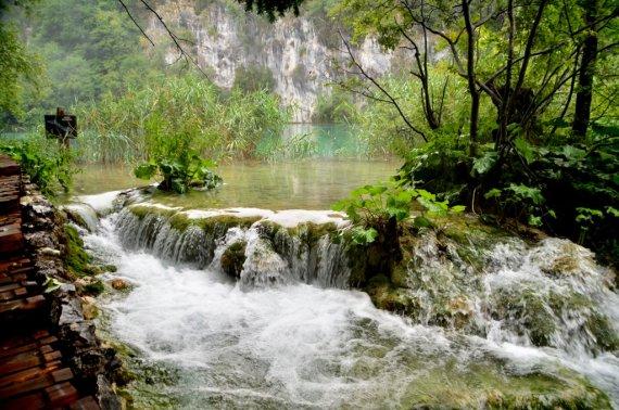 Cascading Plitvice Waterfall