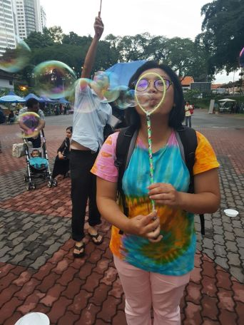 Playing Bubbles at #caracamp