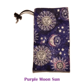 Drawstring Bag Purple Moon Sun