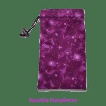 Drawstring Bag Sparkle Raspberry
