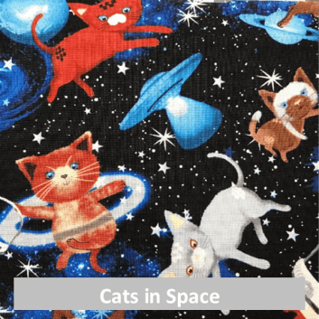 cats in space fabric