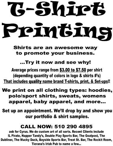 Cyrus' Graphic Arts, T-Shirts, and Logos