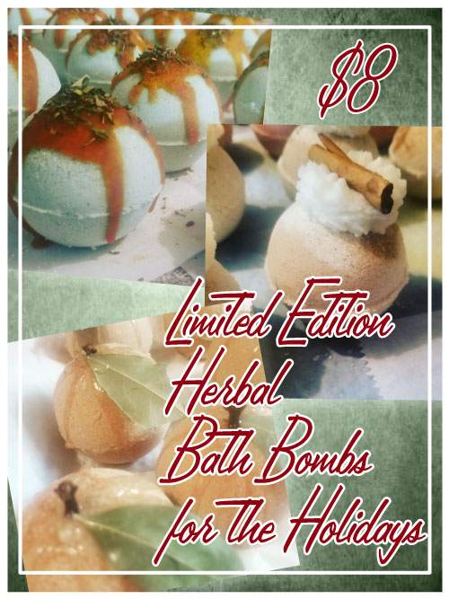 Limited Edition Deluxe Herbal Bath Bombs are Here!
