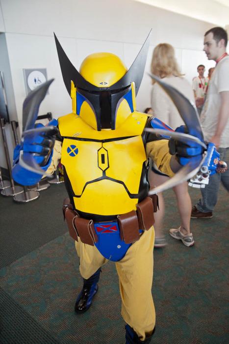 bobba fett logan wolverine lamerine medley at Comicon 2011