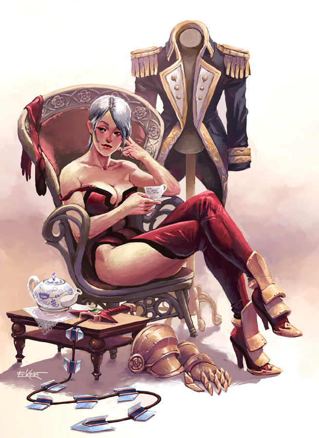 Ivy Valentine stripped down and sipping tea like a mofo