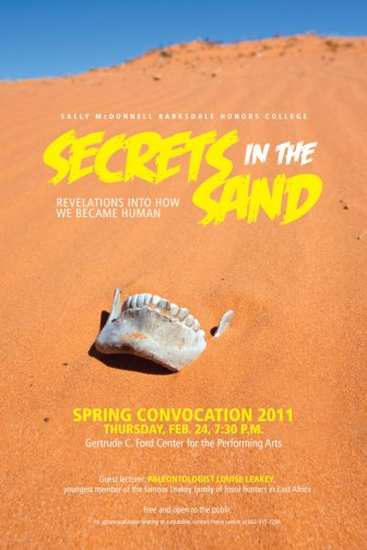 Secrets in the Sand - lecture poster