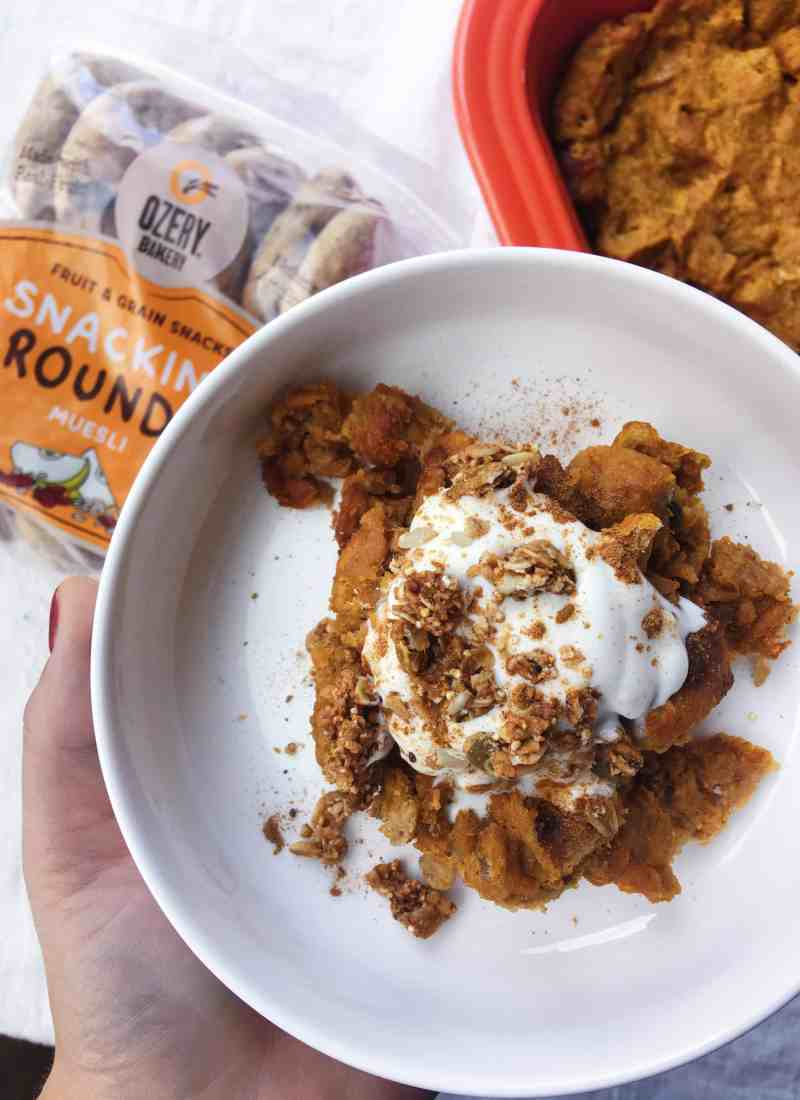 Clean, Lean, Pumpkin-Bread Puddin'.