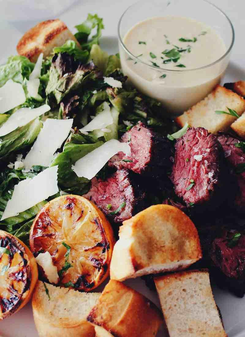 Grilled Steak Ceasar Salad