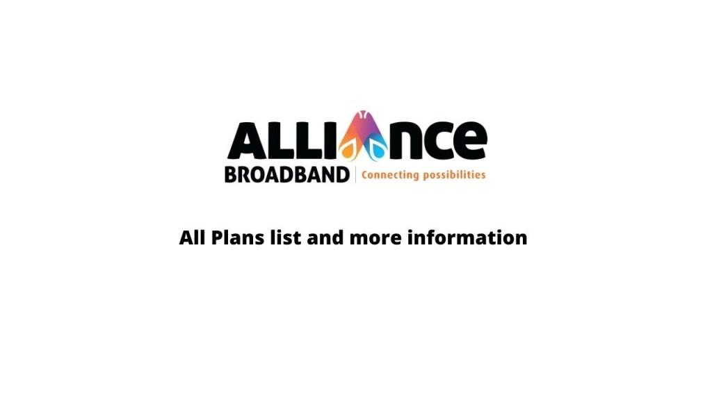 Alliance Broadband Plans Kolkata West Bengal