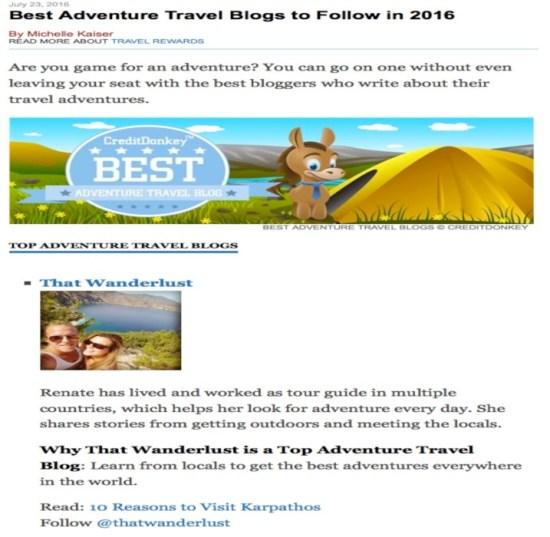 creditdonkey-adventureblogs-mention-thatwanderlust-travel