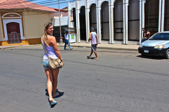 Walking on the streets of Nicaragua - Photo by Debby van Boxtel